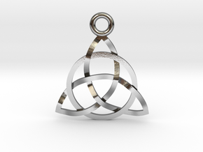 Triquerta Small Pendant  in Polished Silver