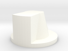 Arrow Knob in White Processed Versatile Plastic