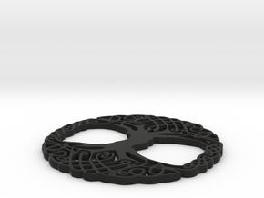 Celtic Tree for Henry Morgan in Black Natural Versatile Plastic