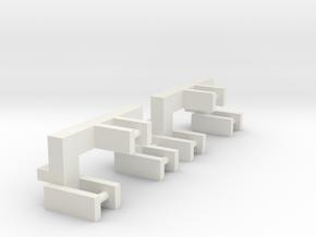 2 3pt Attachments in White Natural Versatile Plastic