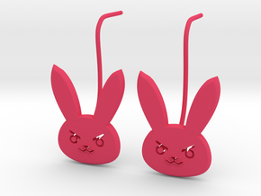 D.Va bunny earring studs in Pink Strong & Flexible Polished