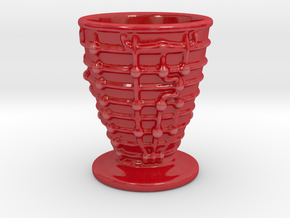 SSME Cup 180mL in Gloss Red Porcelain