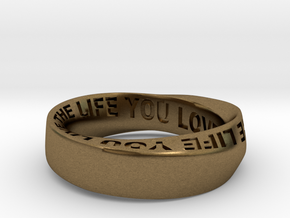 Live The Life You Love - Mobius Ring 6mm band in Natural Bronze