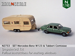 SET Mercedes-Benz & Tabbert Comtesse (N 1:160) in Smooth Fine Detail Plastic