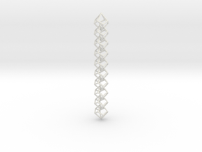 Anti-Diamond Chain, 10 Links in White Natural Versatile Plastic