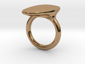 OvalRing - SIZE 9 US in Polished Brass: 9 / 59