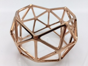 Catalan Bracelet - Pentakis Dodecahedron in 14k Rose Gold Plated Brass: Medium