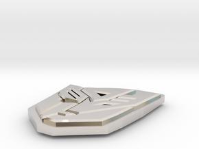 Autobot/Decepticon Token in Rhodium Plated Brass