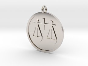 Scales Pendant in Rhodium Plated Brass