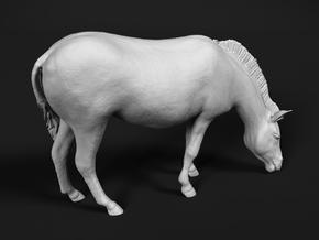 Plains Zebra 1:20 Grazing Female in White Natural Versatile Plastic