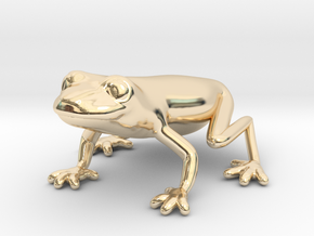 Red Eyed Tree Frog in 14k Gold Plated Brass