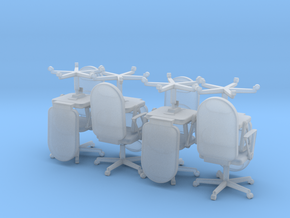 8 Conference Room Chairs HiRez (Star Trek Voyager) in Smooth Fine Detail Plastic