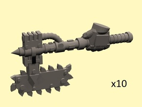 28mm Mordacius chainaxe (+left hand) in Smoothest Fine Detail Plastic
