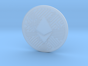 Ethereum (2.25 Inches) in Smooth Fine Detail Plastic