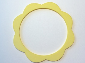 Flower Power - Bangle  in Yellow Processed Versatile Plastic