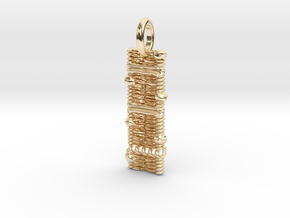 Cell Membrane Pendant - Science Jewelry in 14k Gold Plated Brass