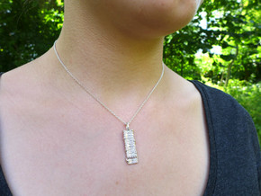 Cell Membrane Pendant - Science Jewelry in Polished Silver