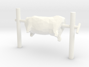 O Scale Beef On A Spit  in White Processed Versatile Plastic