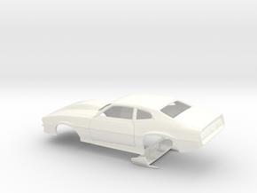 1/43 Pro Mod Maverick W Large Cowl in White Processed Versatile Plastic