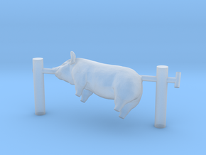 HO Scale Pig On A Spit in Smooth Fine Detail Plastic