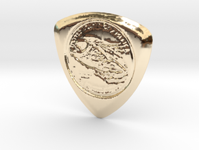 100 Dollar Pick in 14k Gold Plated Brass
