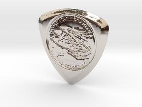 100 Dollar Pick in Rhodium Plated Brass