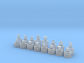 Muhne Chess - Small in Smoothest Fine Detail Plastic