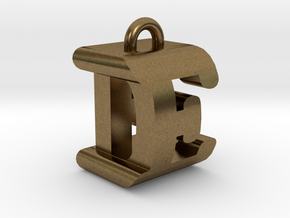3D-Initial-DE in Raw Bronze