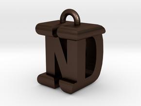 3D-Initial-DN in Matte Bronze Steel