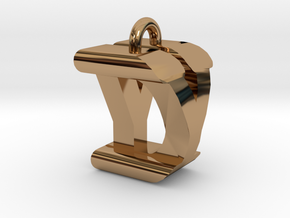 3D-Initial-DY in Polished Brass