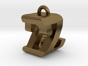 3D-Initial-DZ in Natural Bronze