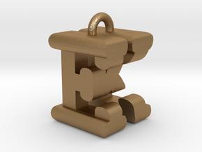 3D-Initial-EK in Matte Gold Steel