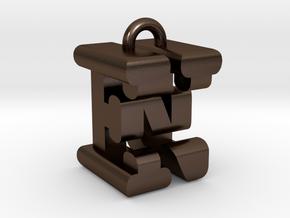 3D-Initial-EN in Polished Bronze Steel