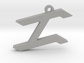Letter ZAYIN - Paleo Hebrew -  With Chain Loop in Aluminum