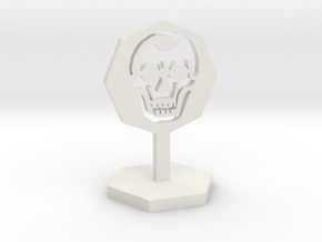 Skeleton Marker in White Natural Versatile Plastic