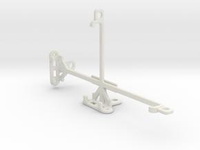 HTC U Ultra tripod & stabilizer mount in White Natural Versatile Plastic