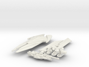 DOTM voyager Sentinel Prime weapon set in White Strong & Flexible