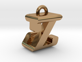 3D-Initial-JZ in Polished Brass