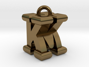 3D-Initial-KM in Polished Bronze