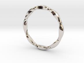 Anello 2017-0027 in Rhodium Plated Brass: Medium