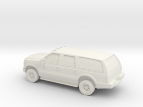 1/64 2010 Ford Excoursion in White Natural Versatile Plastic