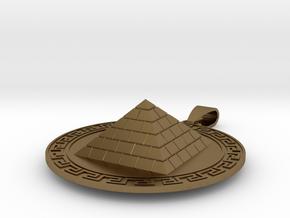 Pyramid Medallion in Polished Bronze (Interlocking Parts)