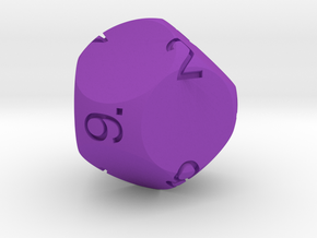 Big Spherical D9 Dice in Purple Strong & Flexible Polished