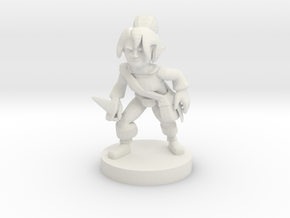 Halfling Female Rogue in White Natural Versatile Plastic