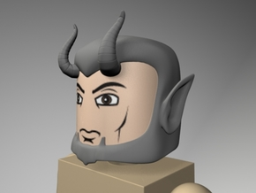 Devil or Satyr Head for Minimate in Smooth Fine Detail Plastic