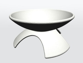 DRAW geo - display stand B - 1p5 Inch Diameter in White Strong & Flexible