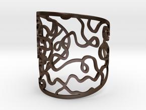 Vesta bangle - open cuff in Polished Bronze Steel