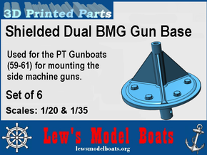 PT Gunboat Side BMGs Base in White Natural Versatile Plastic: 1:20