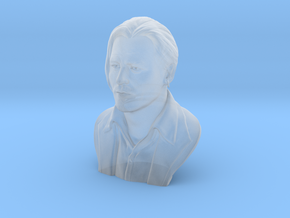 3D Sculpture of Johnny Depp in Smooth Fine Detail Plastic