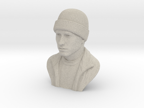 3D Sculpture of Eminem in Natural Sandstone